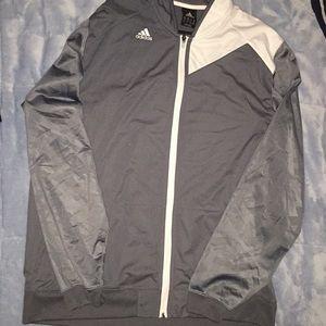 Gray & white Adidas jacket NWOT